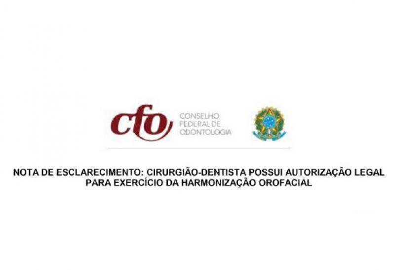 Conselho Federal de Odontologia manifesta-se contra reserva de mercado e reafirma competência do Cirurgião-Dentista para Harmonização Orofacial