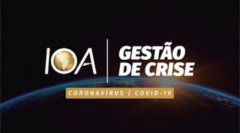 Rede IOA lança e-book sobre gestão de crise para enfrentamento do Covid-19